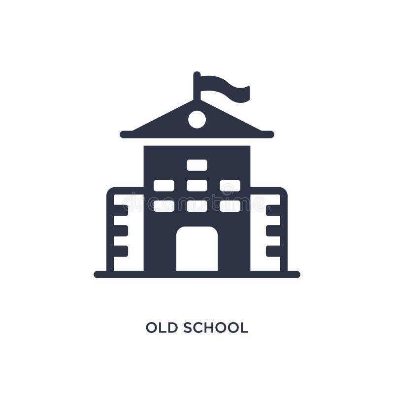 symbol för gammal skola på vit bakgrund Enkel beståndsdelillustration från utbildningsbegrepp vektor illustrationer