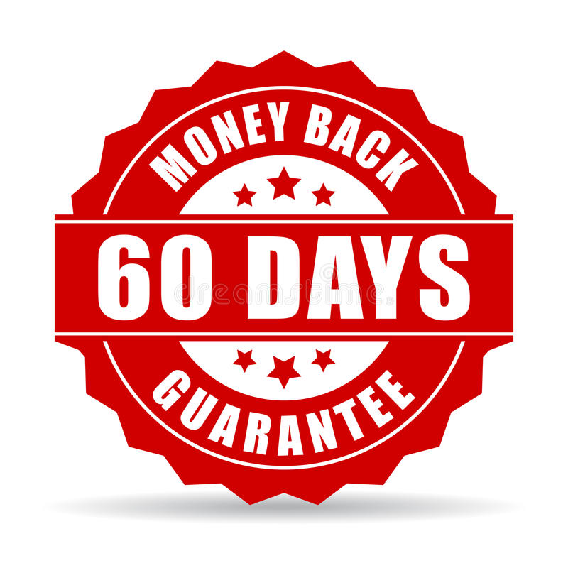 symbol för garanti för 60 dagar pengarbaksida royaltyfri illustrationer