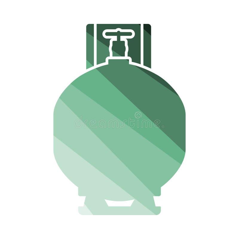 Symbol för gascylinder stock illustrationer