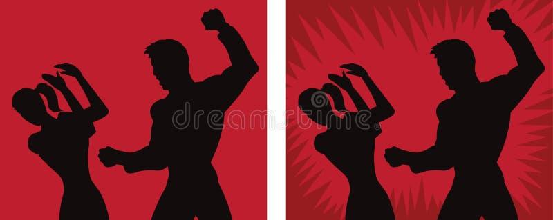 Symbol för giftermålt missbruk stock illustrationer