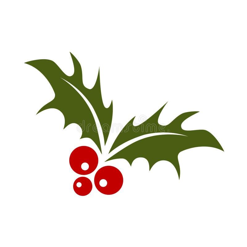 Symbol för glad jul för mistel stock illustrationer
