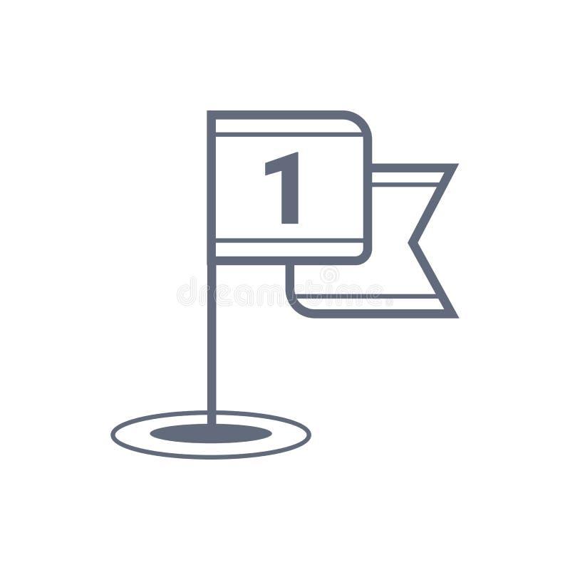Symbol för golfflaggavektor, sportsymbol Modern enkel plan vektorillustration f?r webbplats eller mobil app stock illustrationer