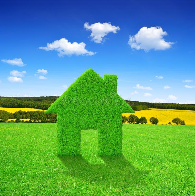 Symbol För Grönt Hus Arkivfoto
