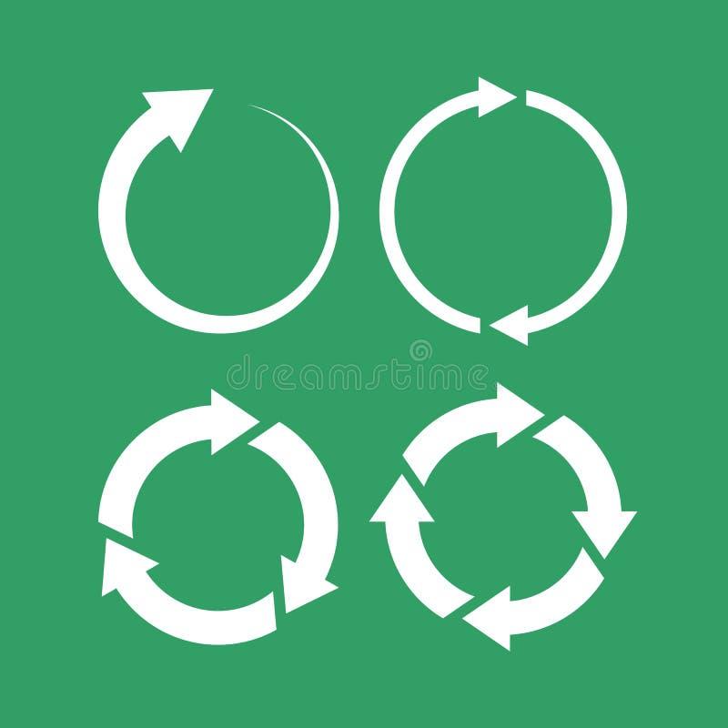 symbol för 360 grad öglaspil royaltyfri illustrationer