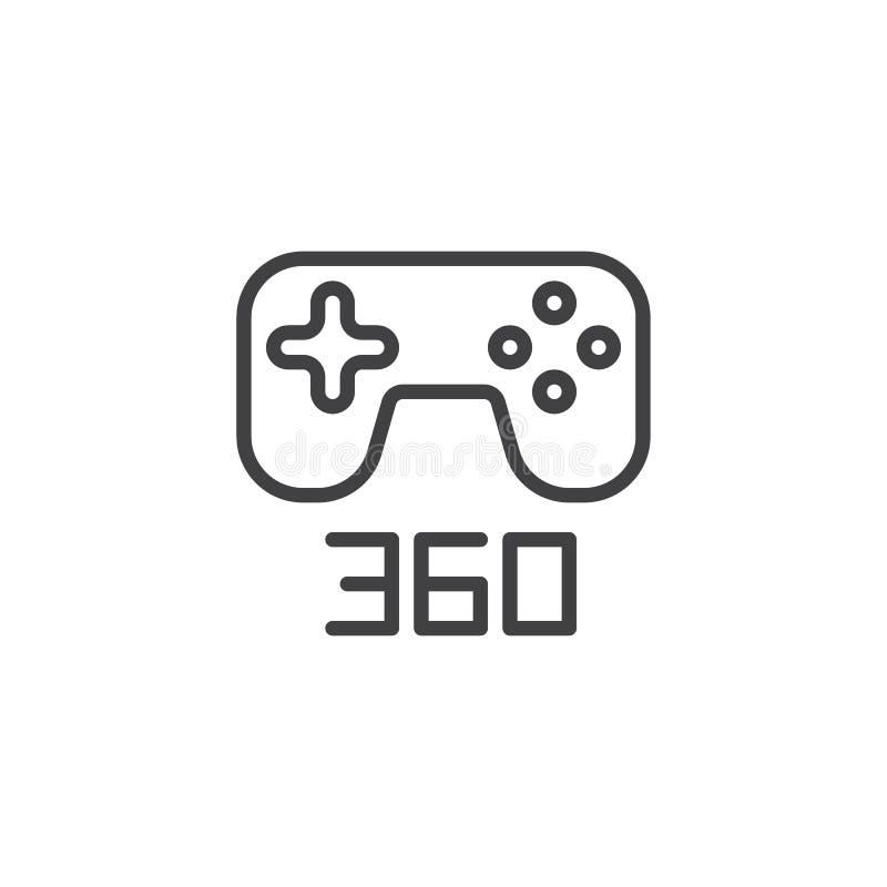 symbol för 360 grad gamepadöversikt vektor illustrationer
