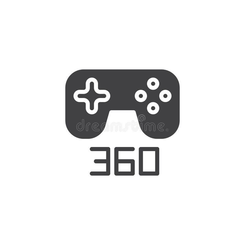 symbol för 360 grad gamepadvektor vektor illustrationer