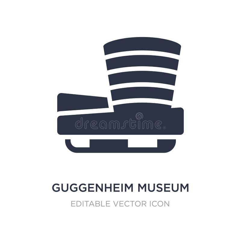 symbol för guggenheimmuseum på vit bakgrund Enkel beståndsdelillustration från monumentbegrepp royaltyfri illustrationer