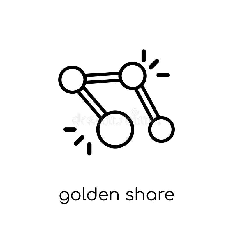 Symbol för guld- aktie  stock illustrationer