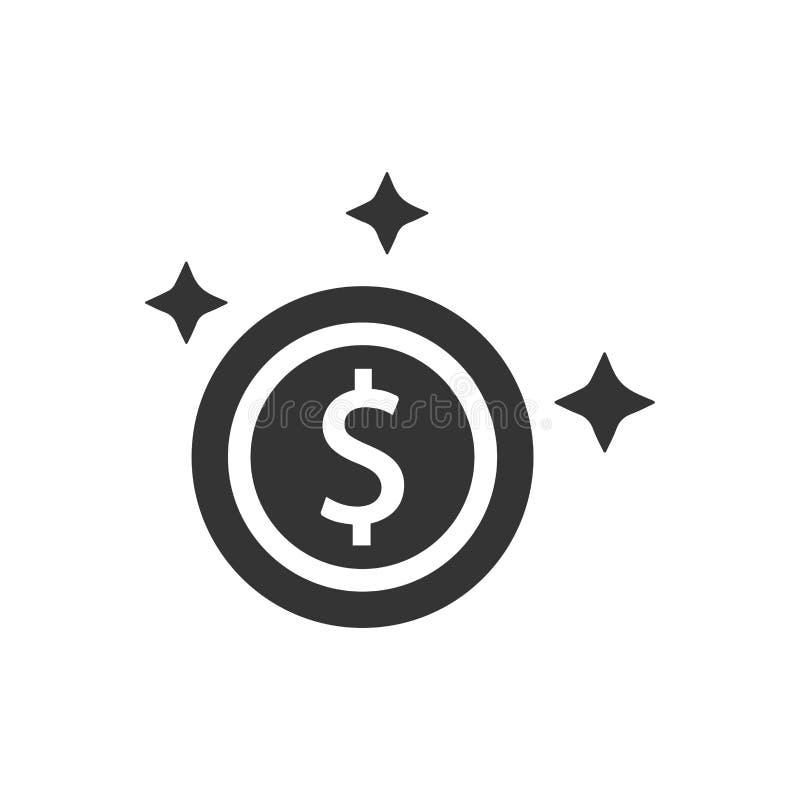 Symbol för guld- mynt royaltyfri illustrationer