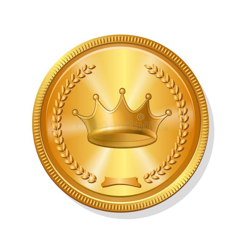 Symbol för guld- mynt också vektor för coreldrawillustration vektor illustrationer