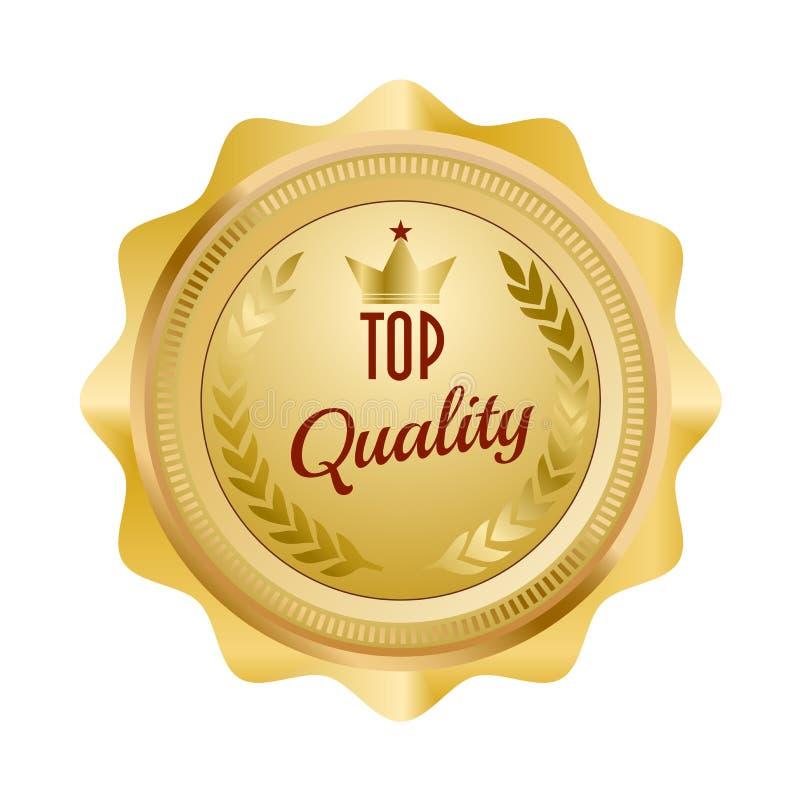 Symbol för guld- skyddsremsa av av högsta kvalitet vektor illustrationer