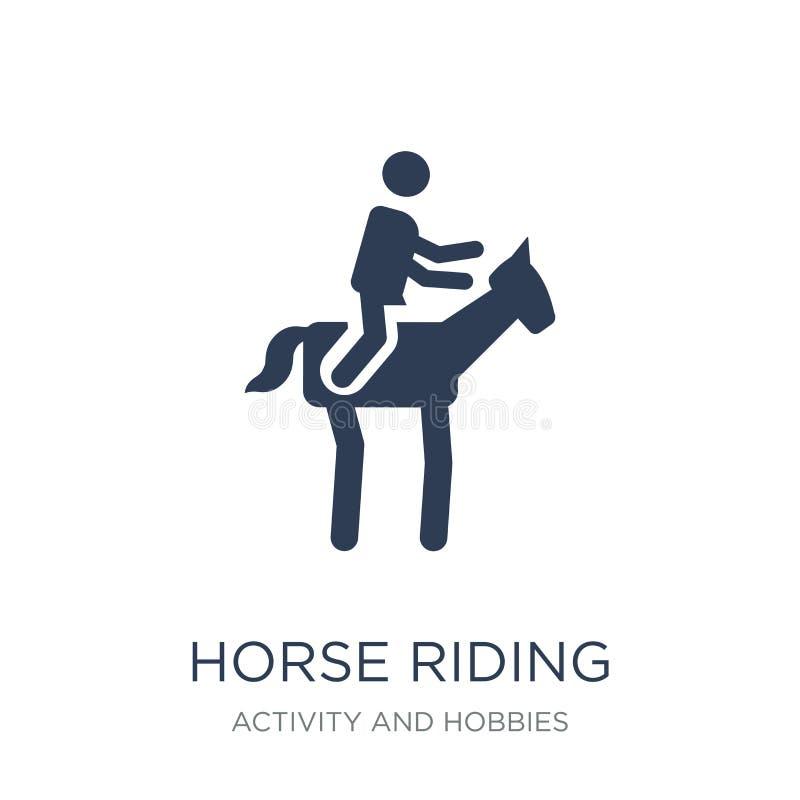 Symbol för hästridning  royaltyfri illustrationer