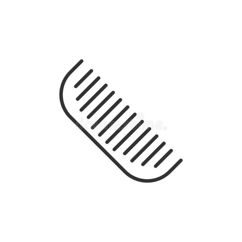Symbol för hårborste i plan stil Åtföljande vektorillustratio för hårkam royaltyfri illustrationer