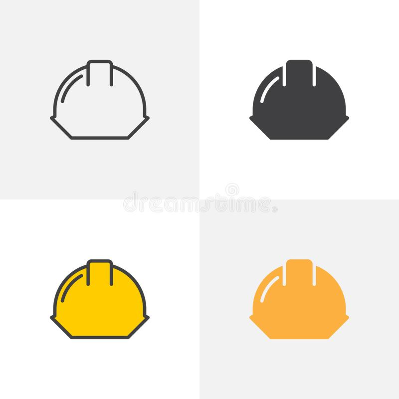 Symbol för hård hatt vektor illustrationer