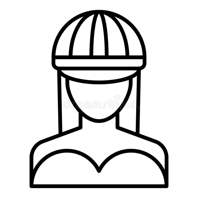 Symbol för höftflygturflicka, översiktsstil stock illustrationer