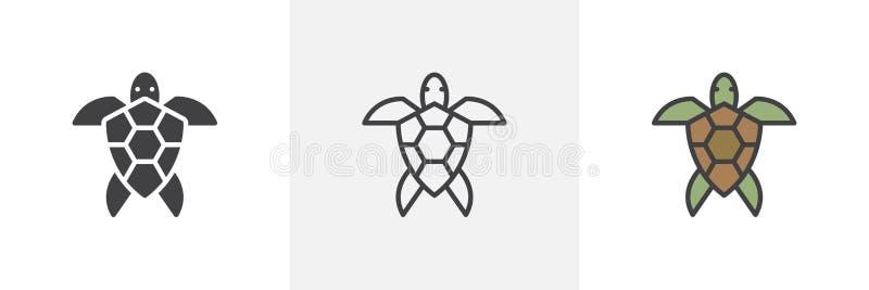 Symbol för havssköldpadda vektor illustrationer