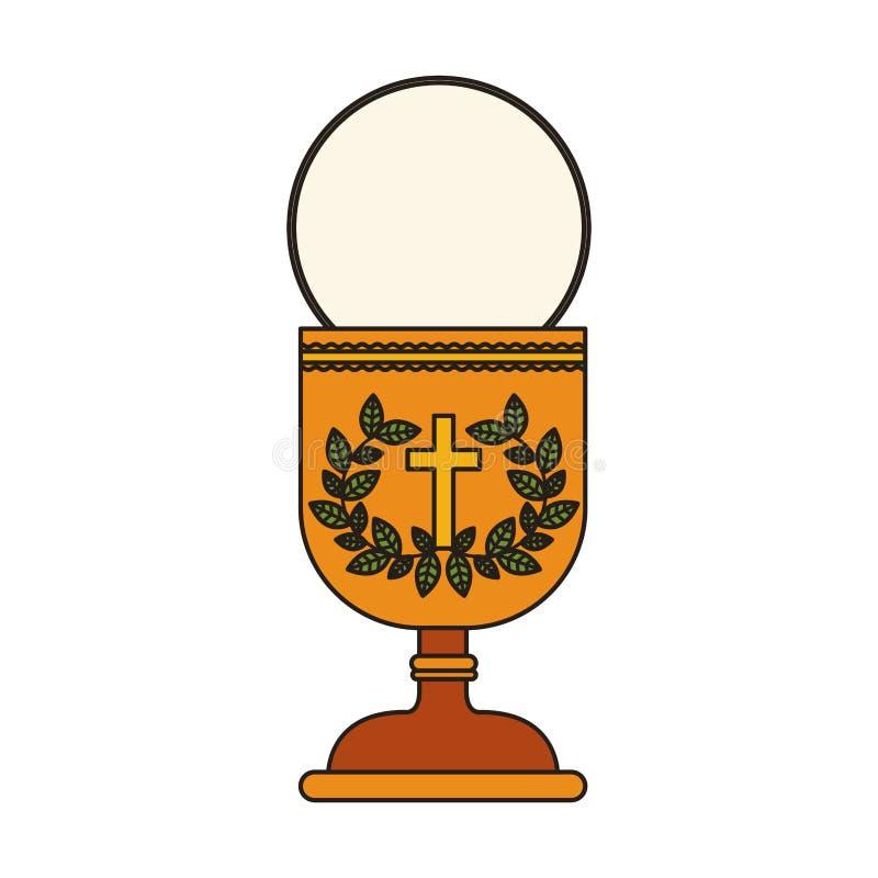Symbol för helig gral stock illustrationer
