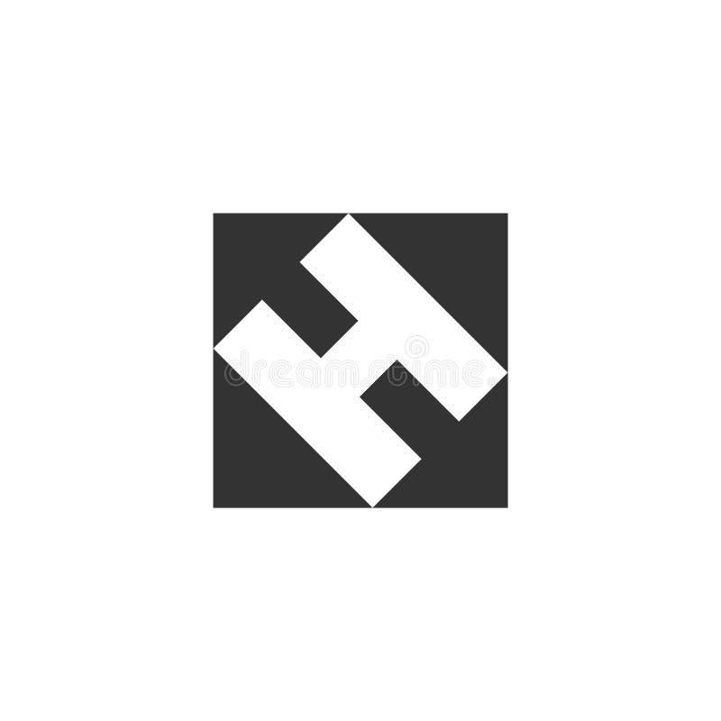Symbol för helikopterlandningblock framlänges royaltyfri illustrationer