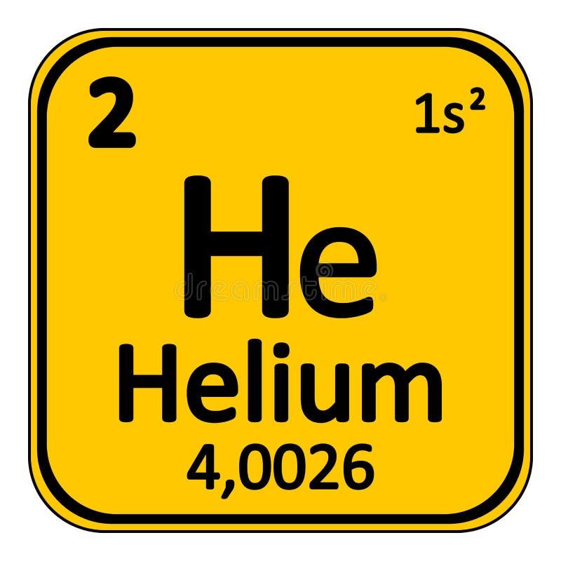 Symbol för helium för beståndsdel för periodisk tabell royaltyfri illustrationer