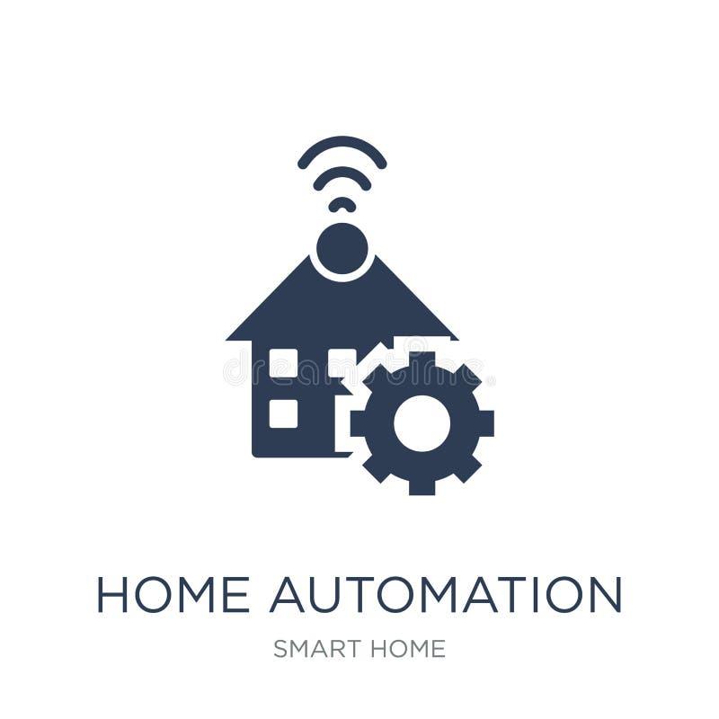 Symbol för hem- automation Moderiktig plan symbol för hem- automation för vektor på stock illustrationer