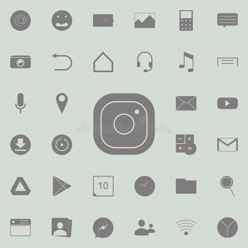 Symbol för Hipsterkamerafoto Detaljerad uppsättning av minimalistic symboler Högvärdigt kvalitets- tecken för grafisk design En a stock illustrationer