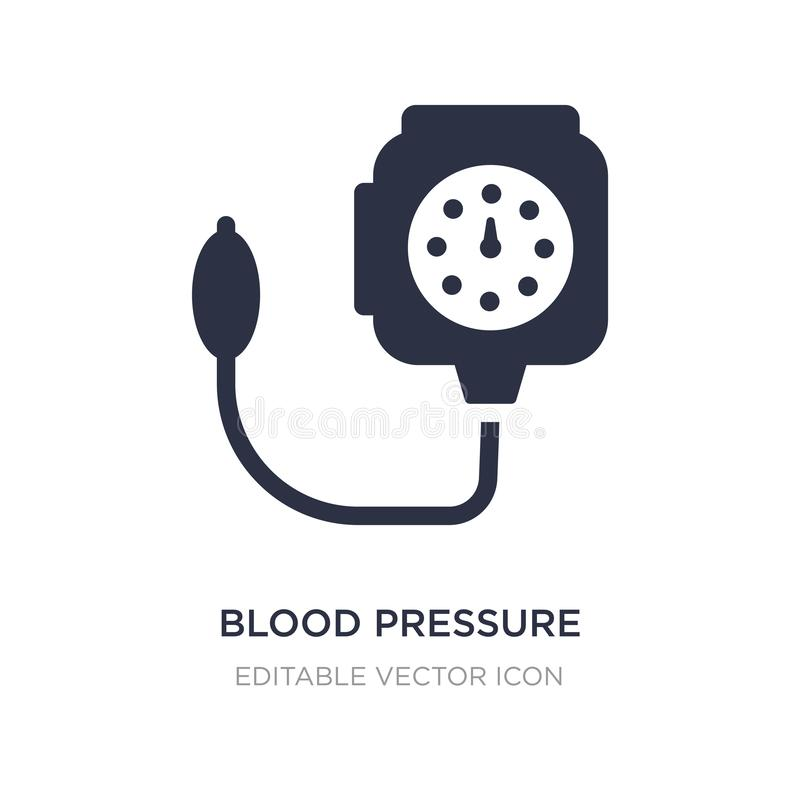symbol för hjälpmedel för blodtryckkontroll på vit bakgrund Enkel beståndsdelillustration från medicinskt begrepp stock illustrationer