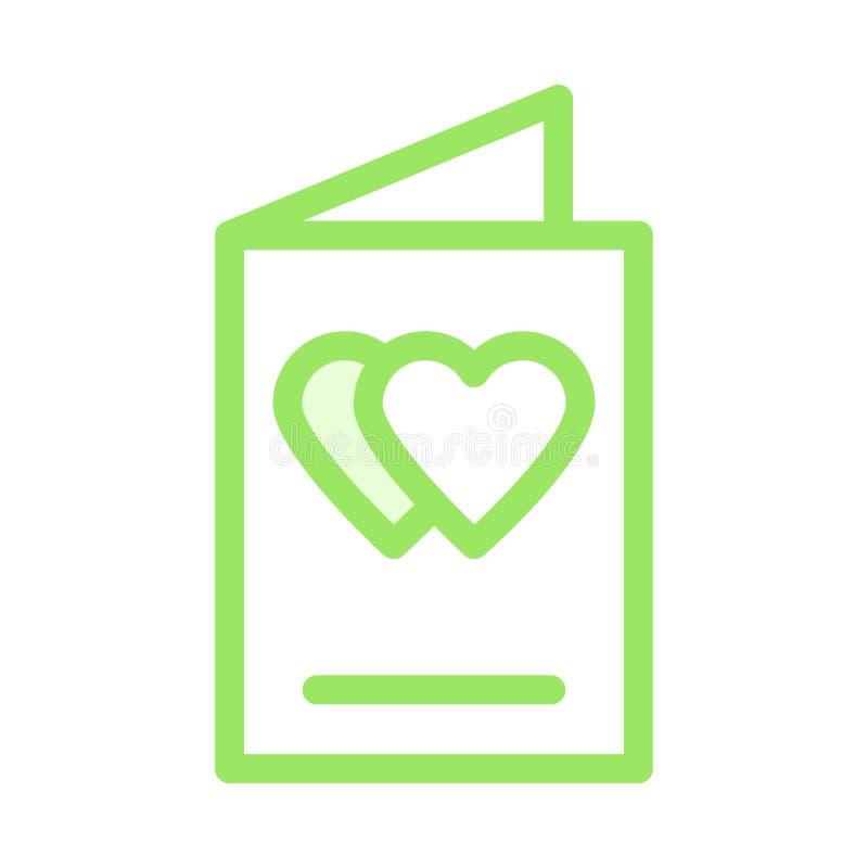 Symbol för hjärtahälsningkort stock illustrationer