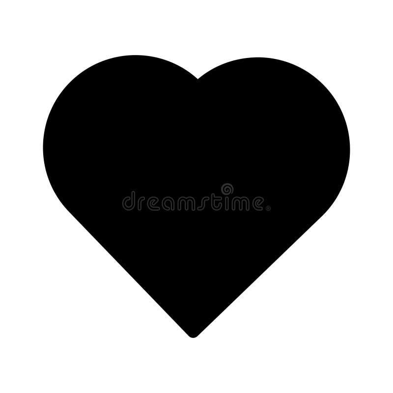 Symbol för hjärtaskåravektor royaltyfri illustrationer