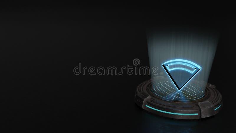 symbol för hologram 3d av symbolen för anslutning 1 att framföra stock illustrationer
