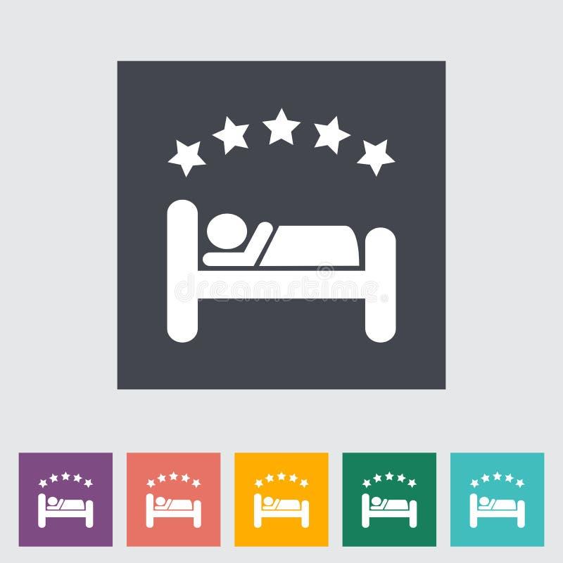 Symbol för hotellsingellägenhet. stock illustrationer