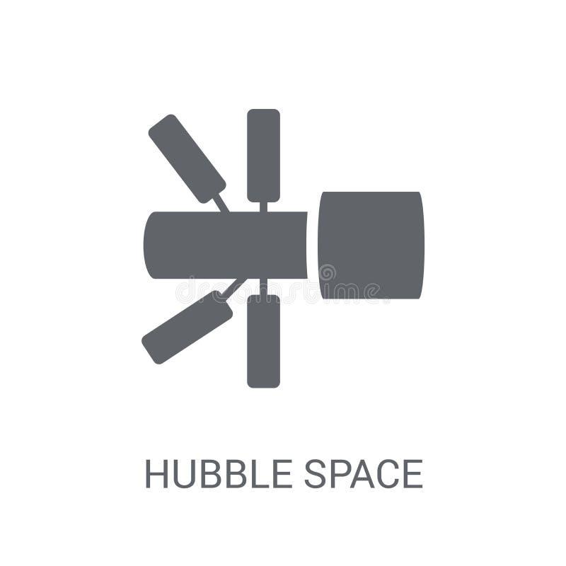 Symbol för Hubble utrymmeteleskop  vektor illustrationer