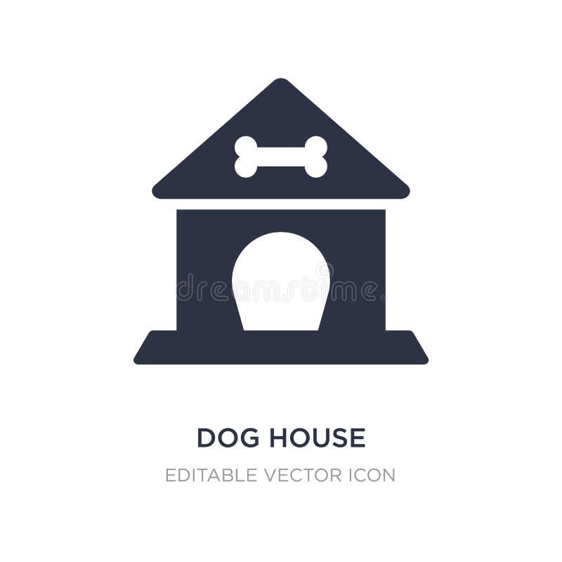 Symbol för hundhus på vit bakgrund Enkel beståndsdelillustration från djurbegrepp stock illustrationer