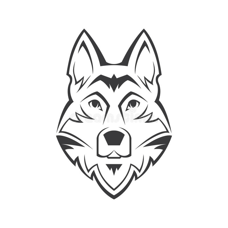 Symbol för hundkapplöpninghuvud royaltyfri illustrationer