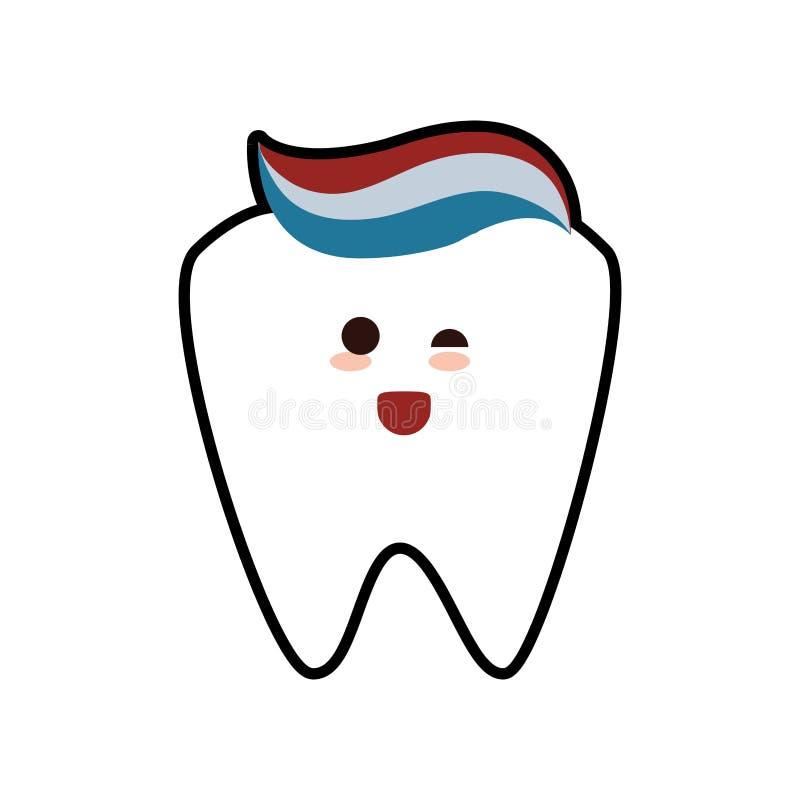 Symbol för hygien för tandvård för tanddeg vård- som stylized swirlvektorn för bakgrund det dekorativa diagrammet vågr royaltyfri illustrationer