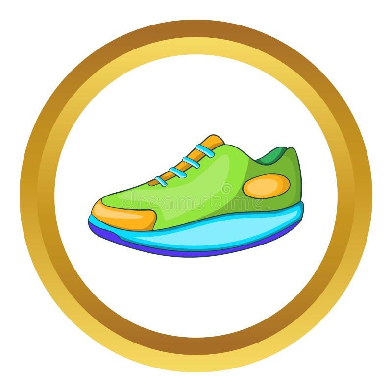 Symbol för idrotts- sko stock illustrationer