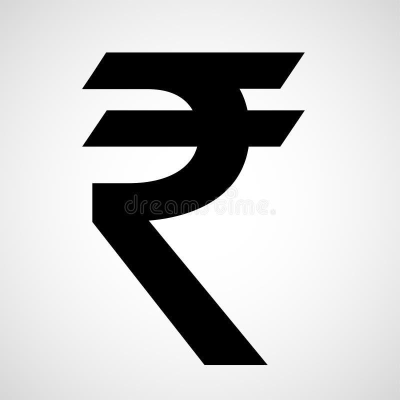 Symbol för indisk rupie stock illustrationer