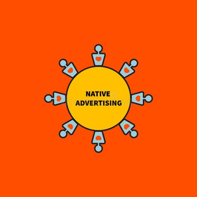 Symbol för infödd advertizing stock illustrationer