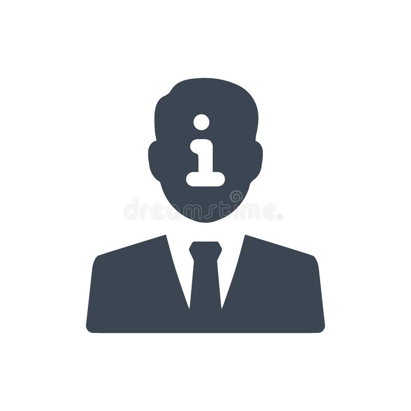 Symbol för information om konto stock illustrationer