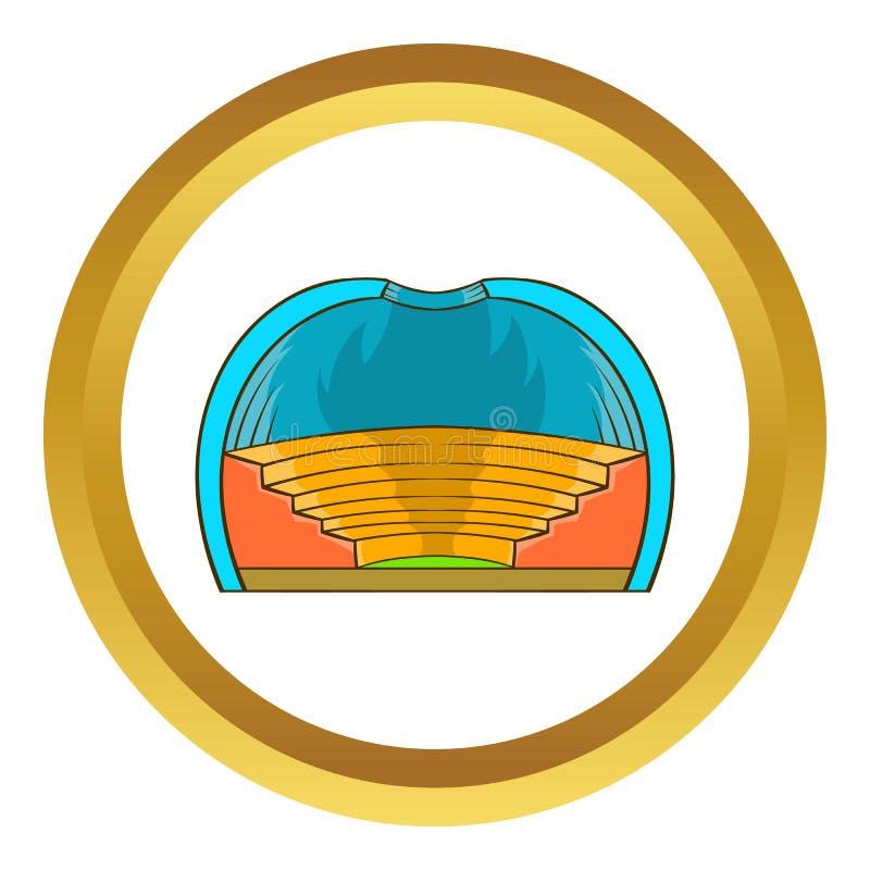 Symbol för inomhus stadion vektor illustrationer