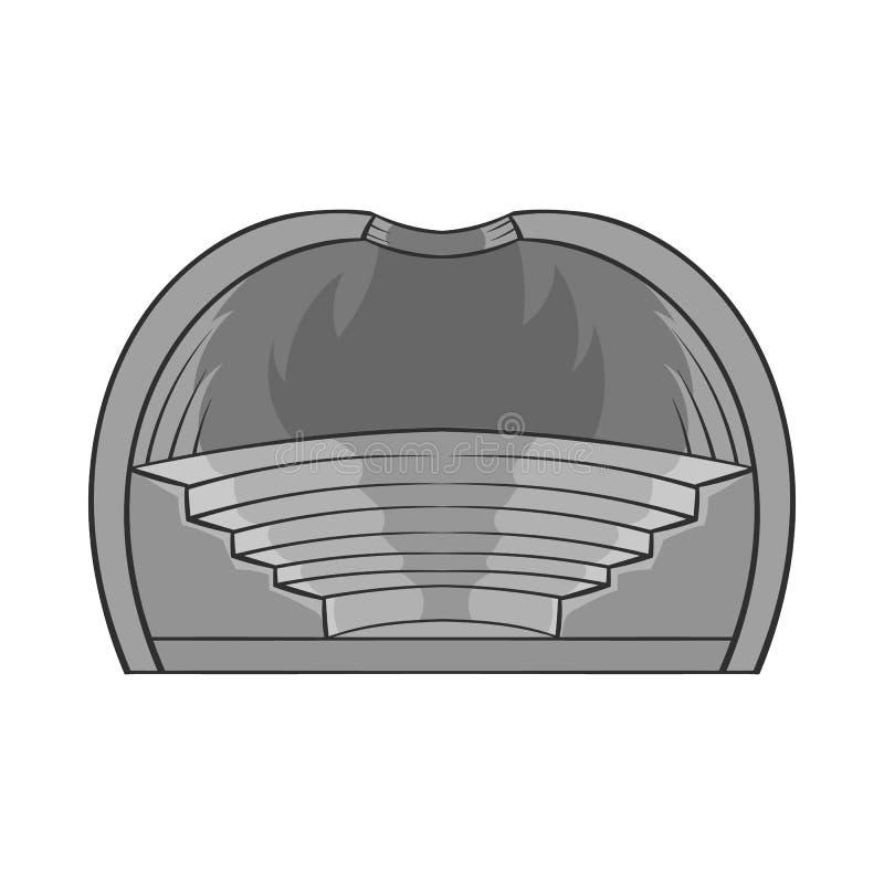 Symbol för inomhus stadion, svart monokrom stil stock illustrationer