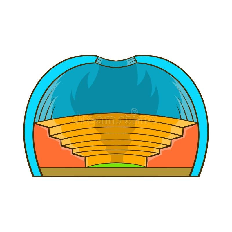 Symbol för inomhus stadion, tecknad filmstil vektor illustrationer