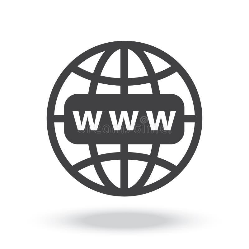 Symbol för internethttp-adress royaltyfri foto