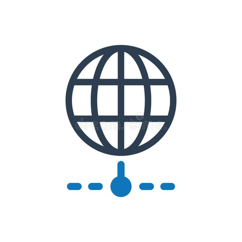 Symbol för internetnätverk royaltyfri illustrationer