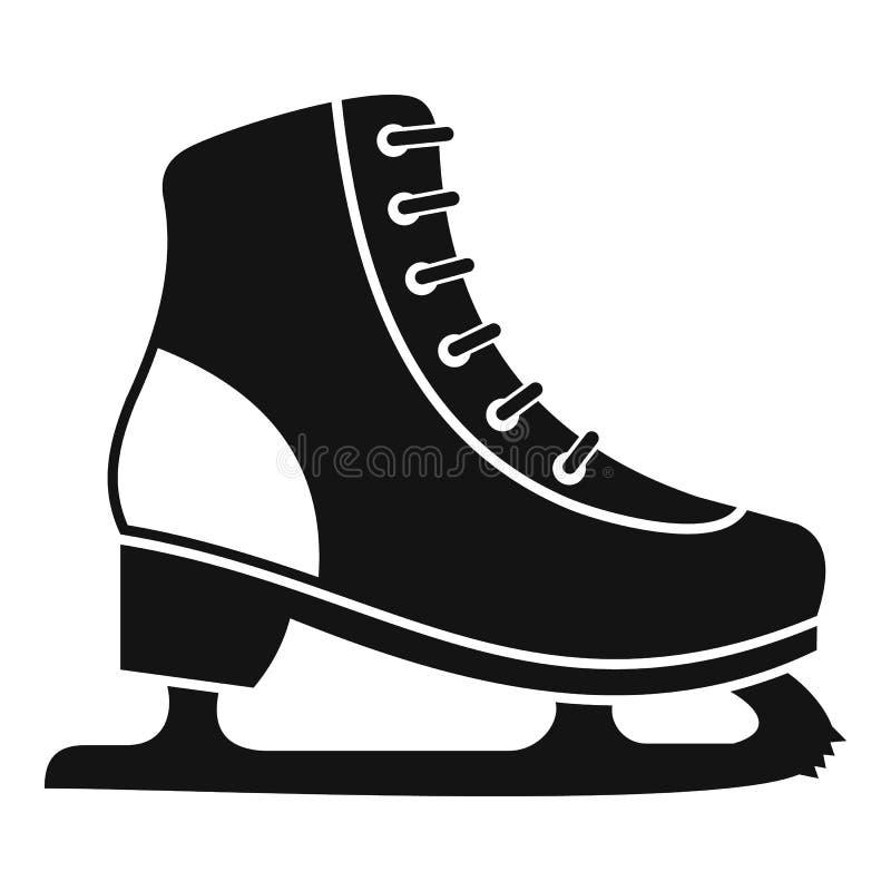 Symbol för isskridsko, enkel stil royaltyfri illustrationer
