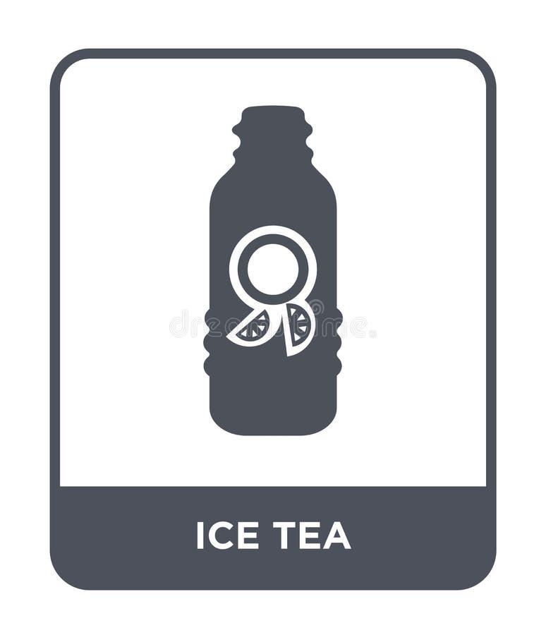 symbol för iste i moderiktig designstil symbol för iste som isoleras på vit bakgrund symbol för symbol för vektor för iste enkelt royaltyfri illustrationer
