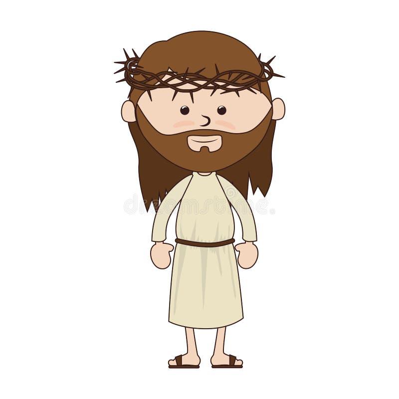 Symbol för Jesus christ teckenklosterbroder vektor illustrationer