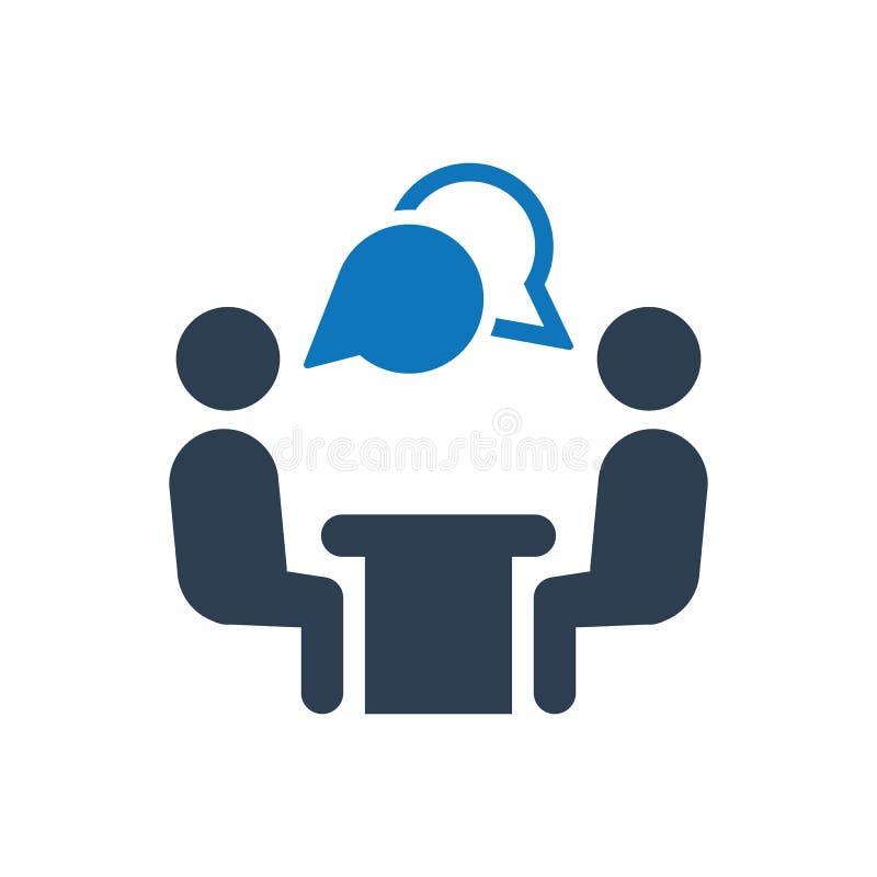 Symbol för jobbintervju royaltyfri illustrationer