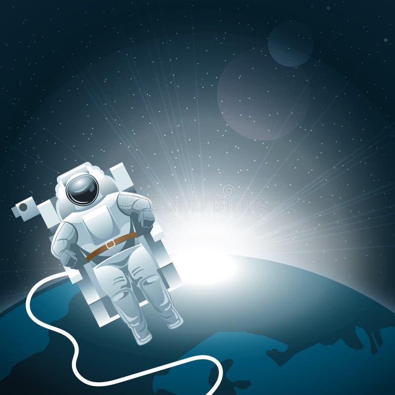 Symbol för jord för Digital vektorplanet med vitt ljus stock illustrationer