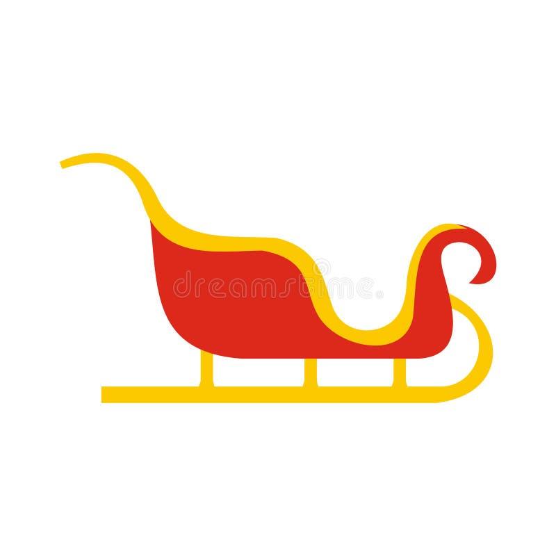 Symbol för julslädelägenhet vektor illustrationer
