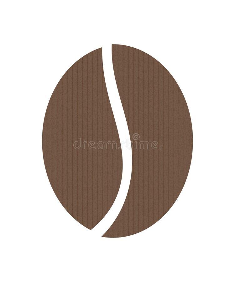 Symbol för kaffeböna royaltyfri illustrationer